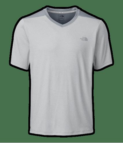 CBH6ETS-camiseta-reactor-manga-curta-cinza-claro-masculina-gola-v-frente