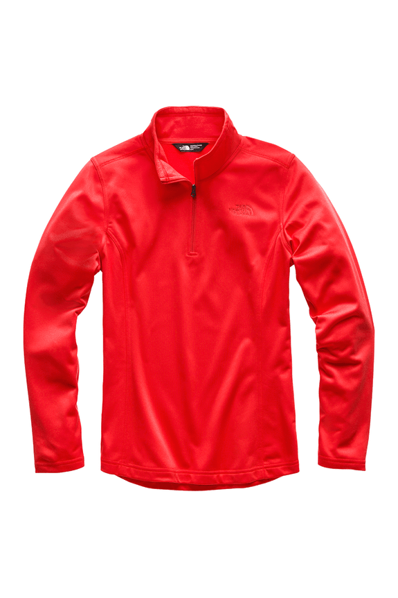 3OCHS21_Fleece-Mezzaluna-14-Zip-Feminino-Vermelho-Detal1