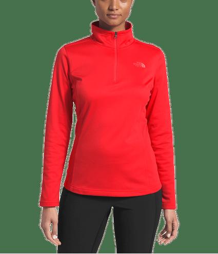 3OCHS21_Fleece-Mezzaluna-14-Zip-Feminino-Vermelho-Detal2