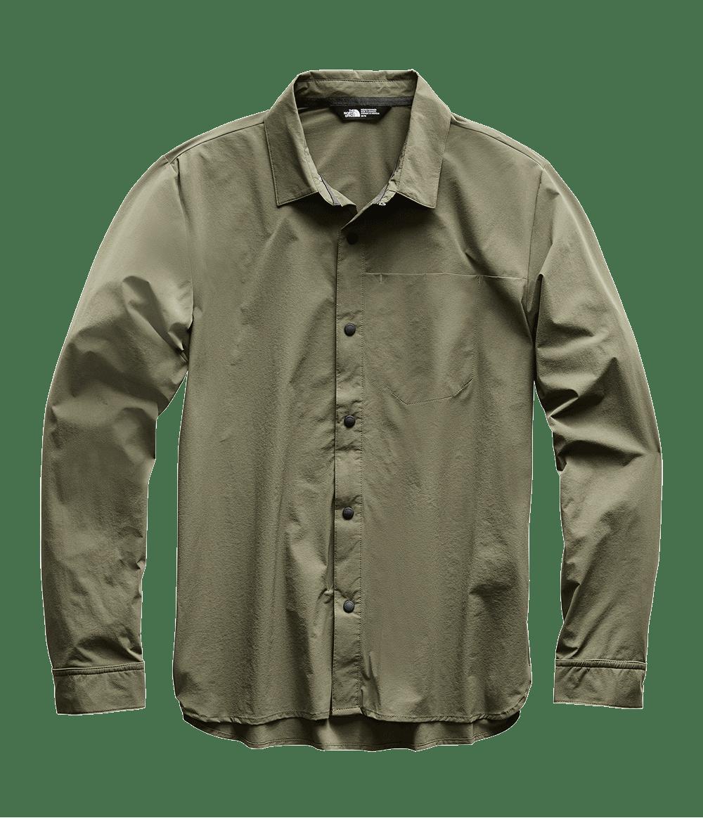 3SOH21L-camisa-masculina-manga-longa-verde-north-dome-detal1