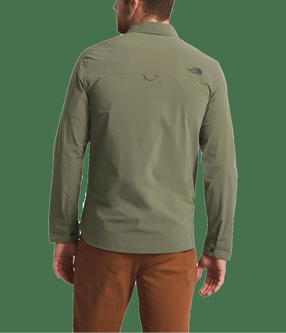 3SOH21L-camisa-masculina-manga-longa-verde-north-dome-detal3