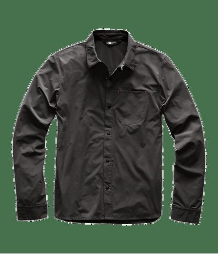 3SOH0C5-camisa-masculina-cinza-manga-longa-north-dome-detal1