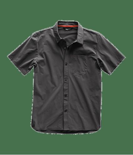 3SOI0C5-camisa-masculina-manga-curta-cinza-north-dome-detal1