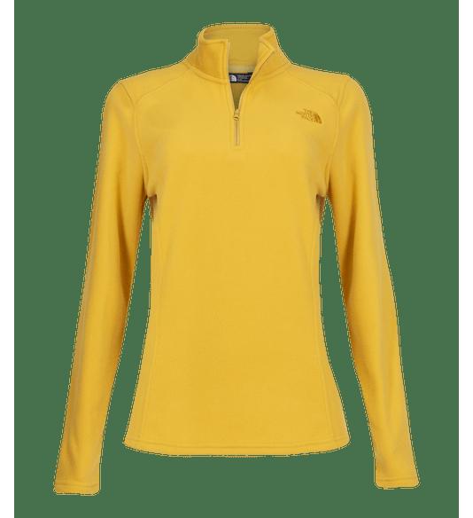2REDNF53-Fleece-Feminino-TKA-100-Glacier-1-4-Zip-Amarelo-1
