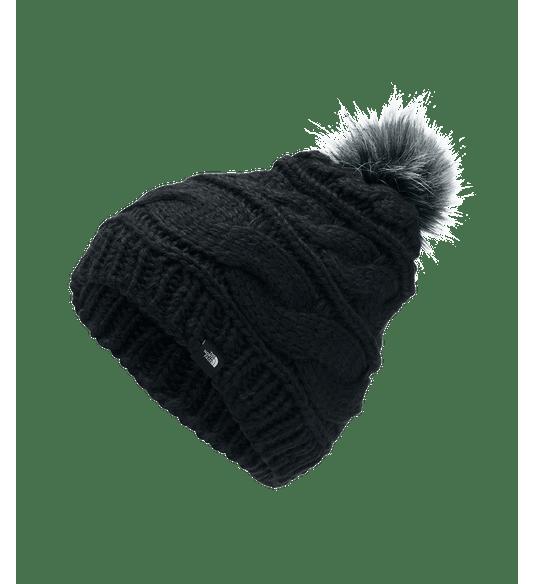 CJ6QETR-Gorro-Triple-Cable-Fur-Pom-Preto