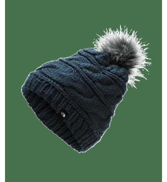 CJ6QH2G-Gorro-Triple-Cable-Fur-Pom-Azul